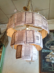 Book Pages Chandelier